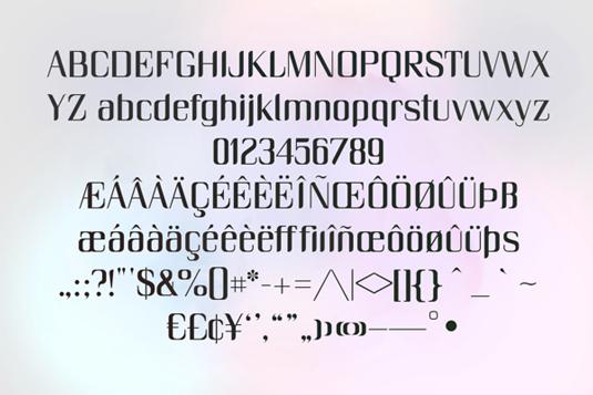 Free fonts: Unique