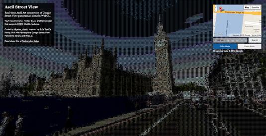ASCII Google Street View: Parliament