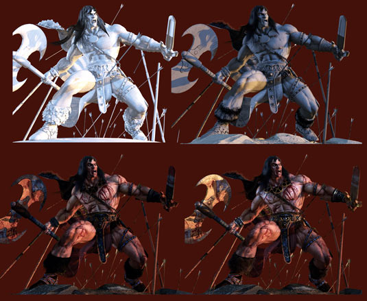Texturing and lighting conan
