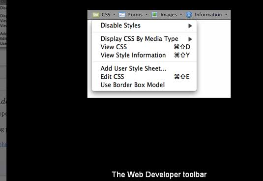 Web-developer toolbar