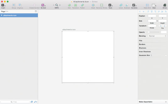 Get your 60px by 60px artboard in Sketch