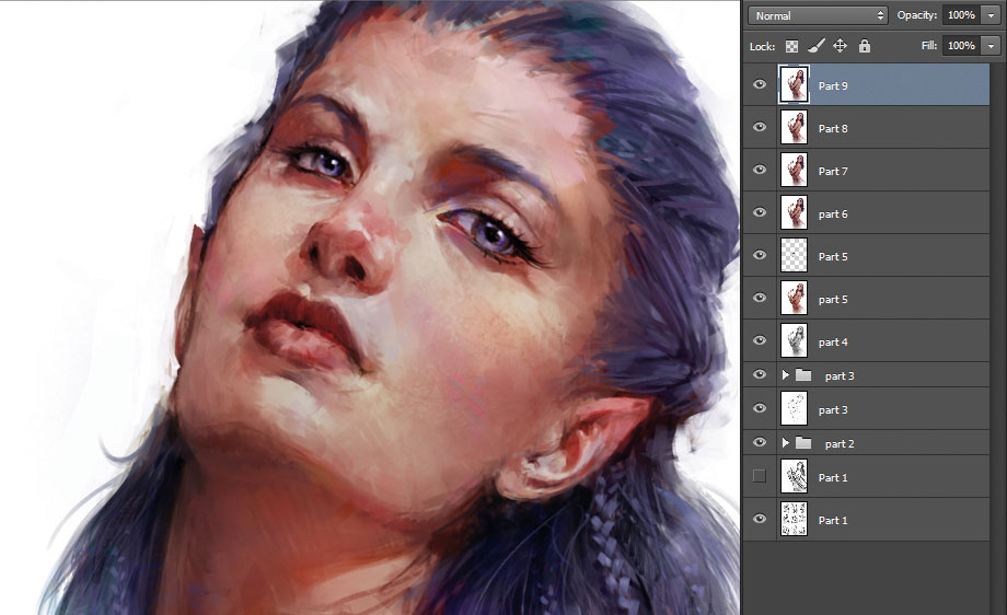 How to create a believable character - Rendering the face