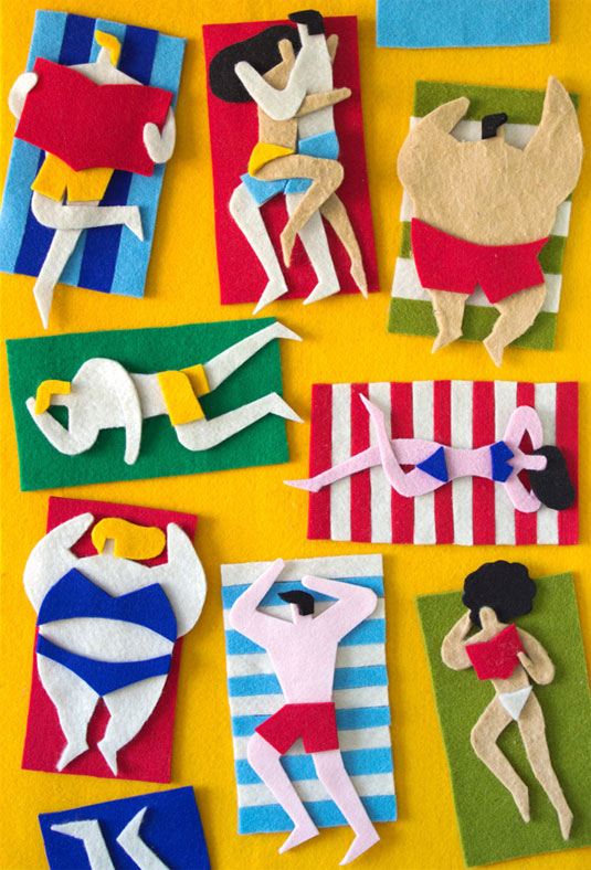 fuzzy felt artwork