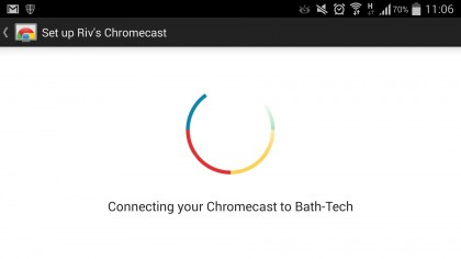 set up chromecast