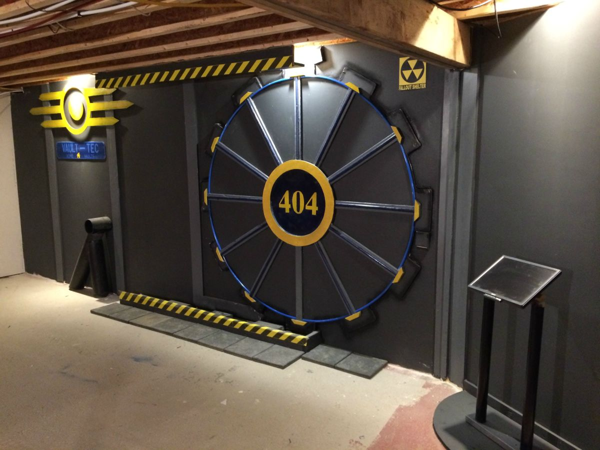 Cool Bedroom Ideas For Guys Fallout Fan Builds Vault Tec Door Is Awesome Pc Gamer