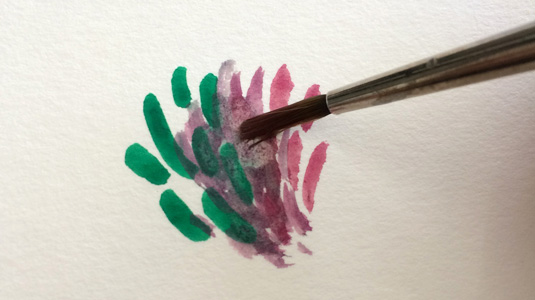 How to paint with gouache: Blurred brushstrokes