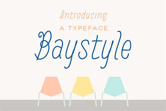 Baystyle font