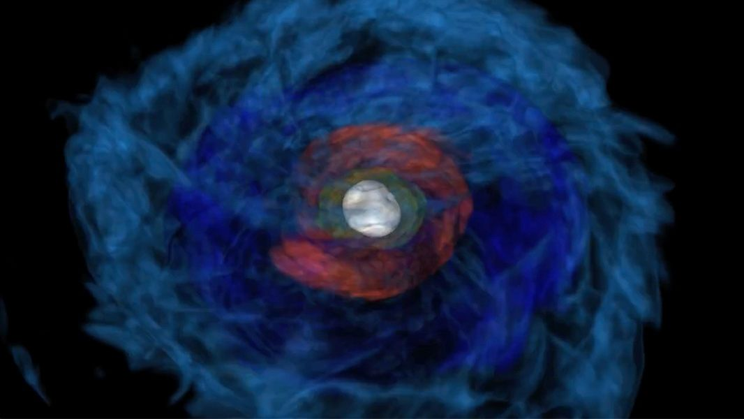 Titanic collision of two neutron stars solves a cluster of cosmic mysteries