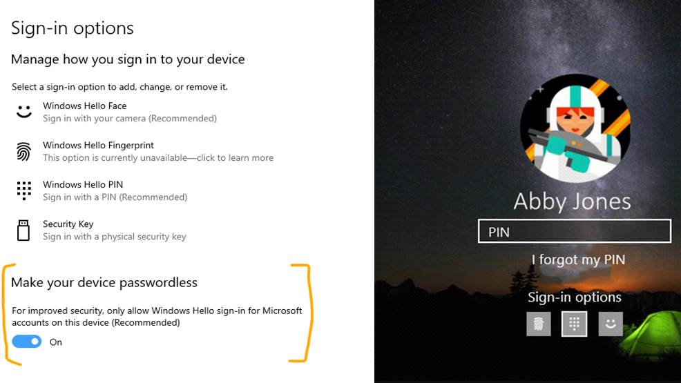 New Windows 10 preview lets you go passwordless and improves Your Phone app
