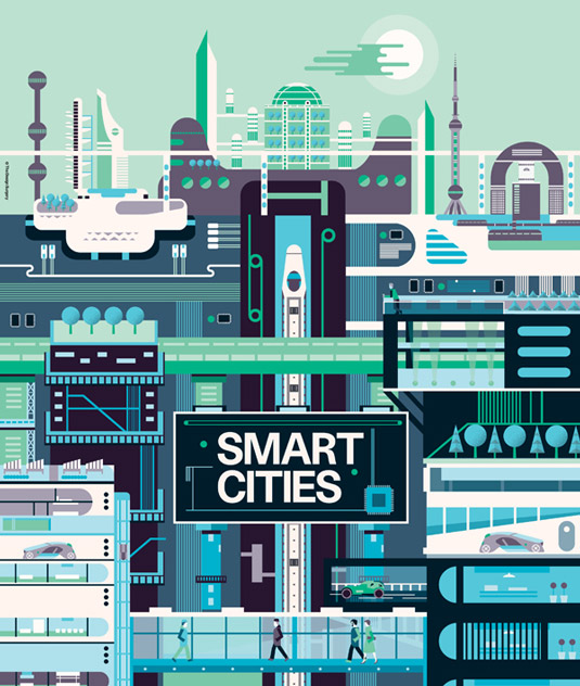 Vector art Smart Cities