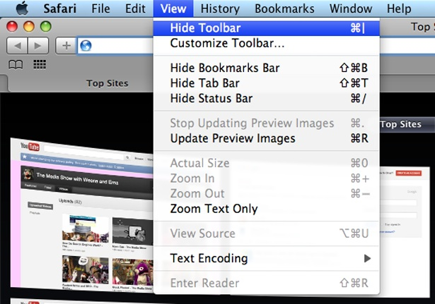 Apple's Safari desktop browser has given users the option to hide the address bar for years