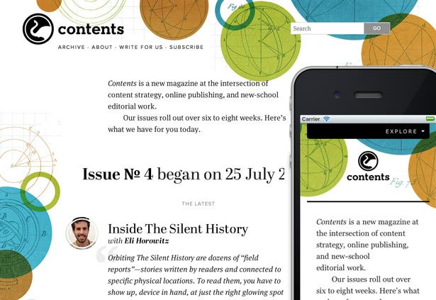 Best responsive websites: Contents