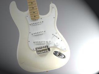 The white Woodstock Strat