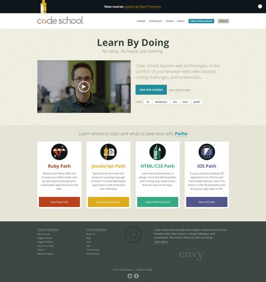 Online coding course: Code School