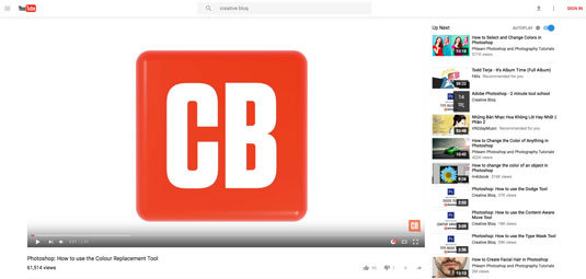 YouTube material design makeover