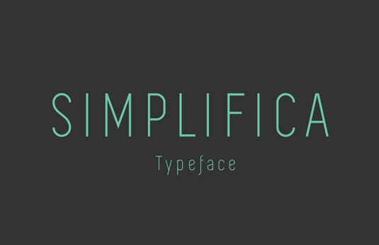 Free font: Simplifica