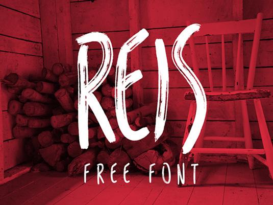 Free font: Reis
