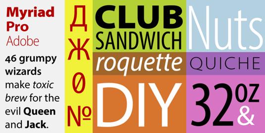 versatile font families
