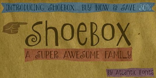 Shoebox font