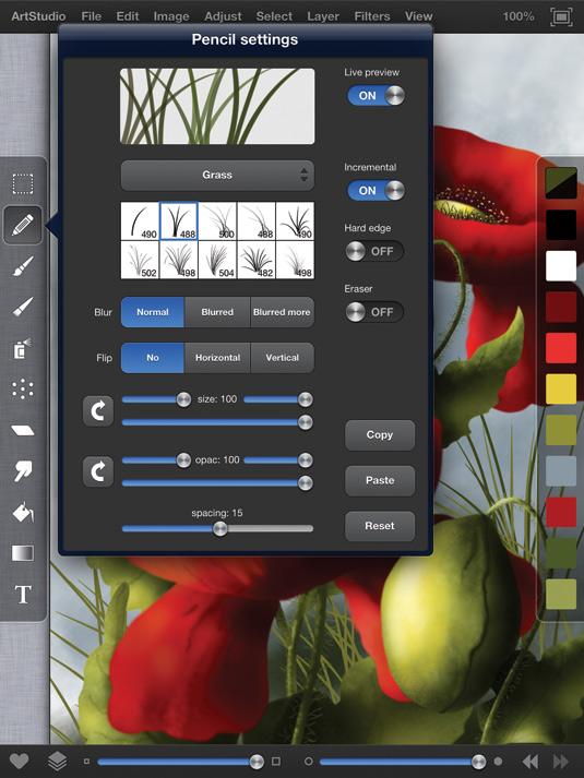 ArtStudio: the new interface