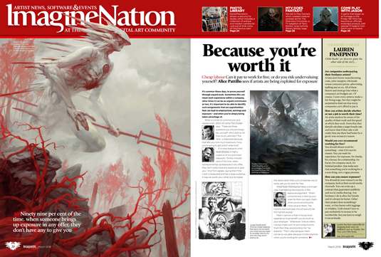 ImagineFX issue 133 - News Feature