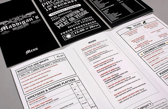 Menu Design Ideas one of americas best new restaurants gets new menu designs Graphic Designer Aaron Kitney Combined Modern And Gothic Typefaces In This Menu Design