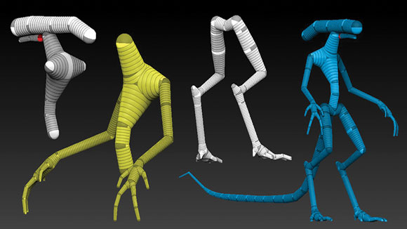 ZBrush tutorials: Make H.R. Giger's Alien