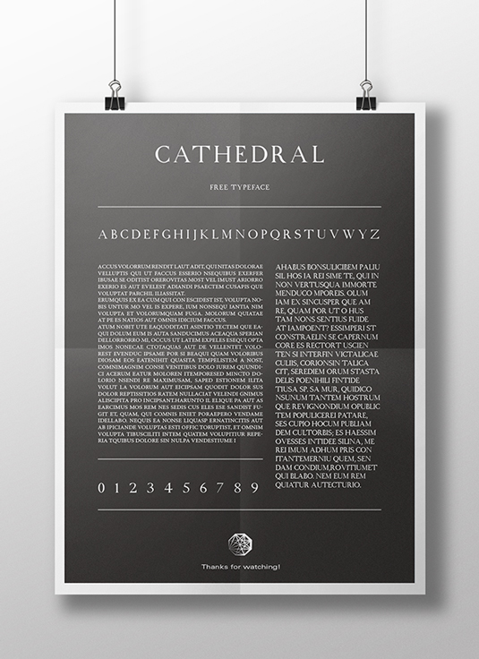 Free font: Cathedral