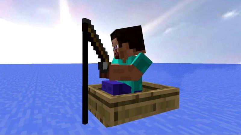 ловим рыбу в minecraft