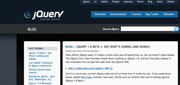 The docs are still being worked up, but the feature line-up in jQuery 1.8 is impressive