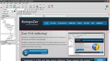 Download KompoZer free