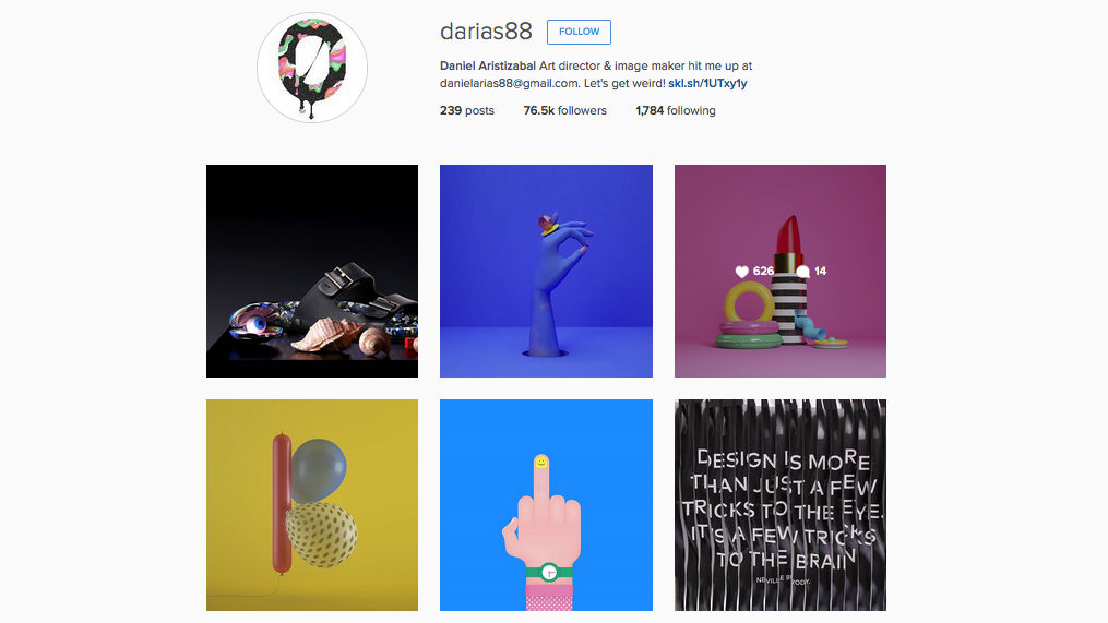 Graphic designers to follow on Instagram: Daniel Aristizabal