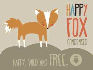 Fuentes de escritura libre Happy Fox