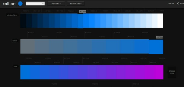 Website layouts: colours