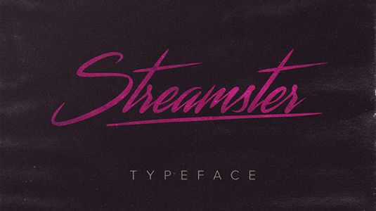 Free font: Streamster