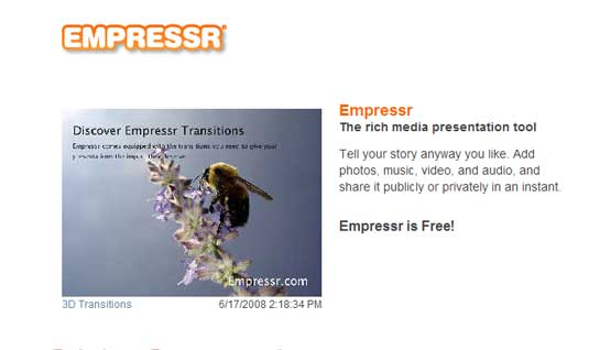 How to create a presentation: Empressr