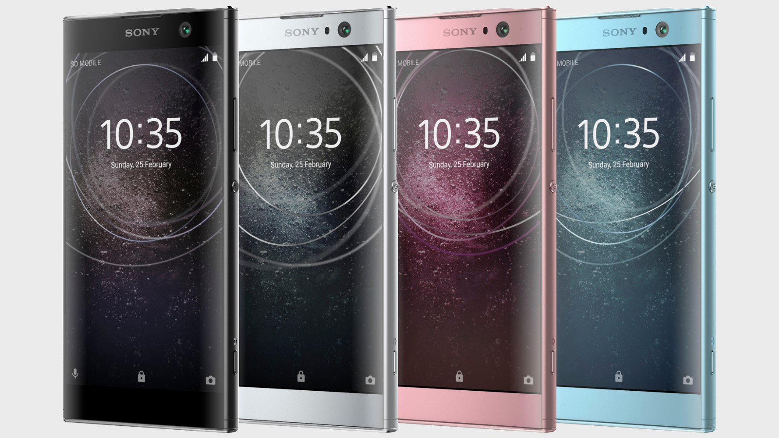 The purported Sony Xperia XA2 shown in various colors