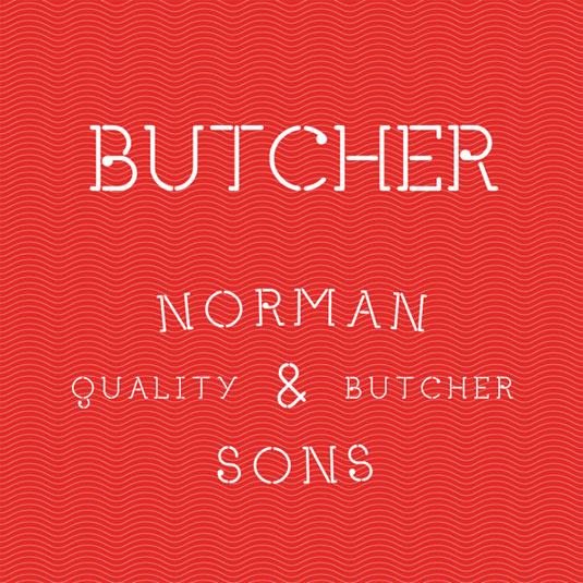 free stencil fonts: Butcher