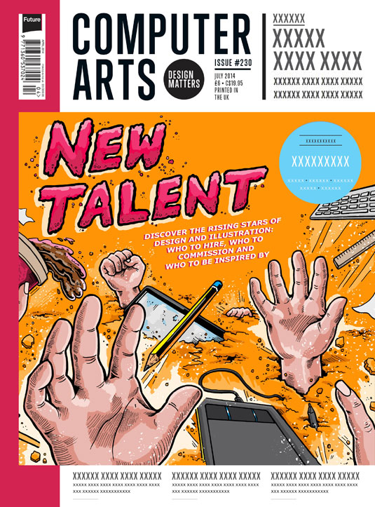 Cover design for CA's New Talent issue by Mat Roff