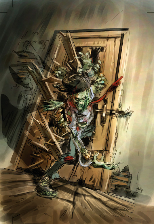 zombie book rough colour
