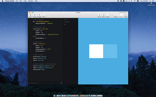 Prototyping tools: Framer