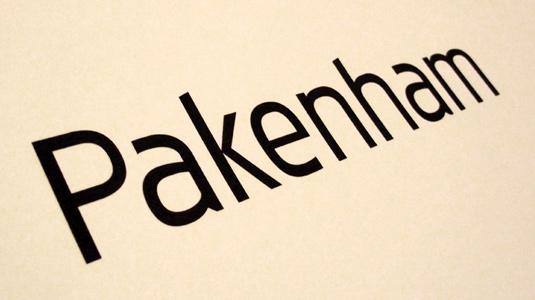 Free font: Pakenham Regular