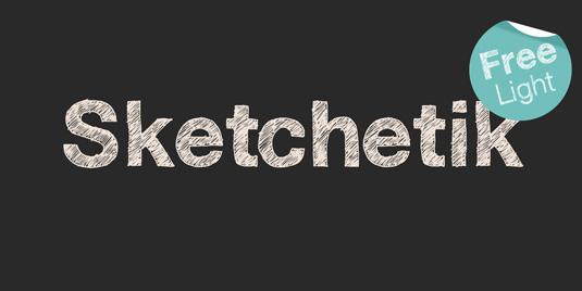 Free font: Sketchetik Light