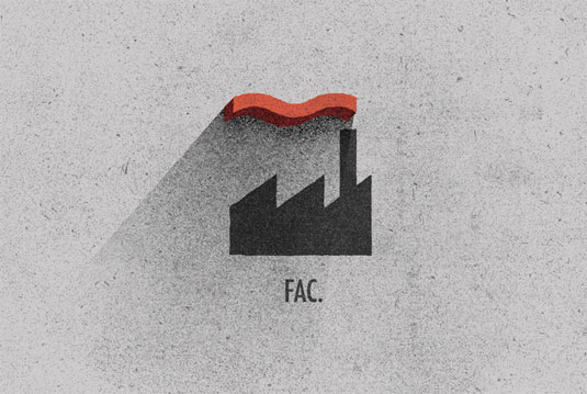 record label logos: factory