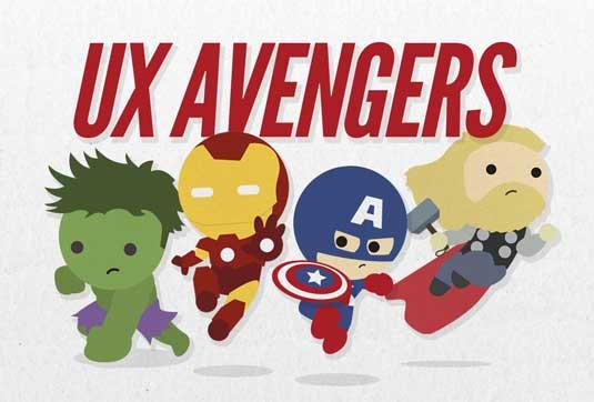 UX avengers cartoon