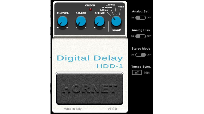 hornet brings back the very first digital delay guitar pedal in a plugin musicradar. Black Bedroom Furniture Sets. Home Design Ideas