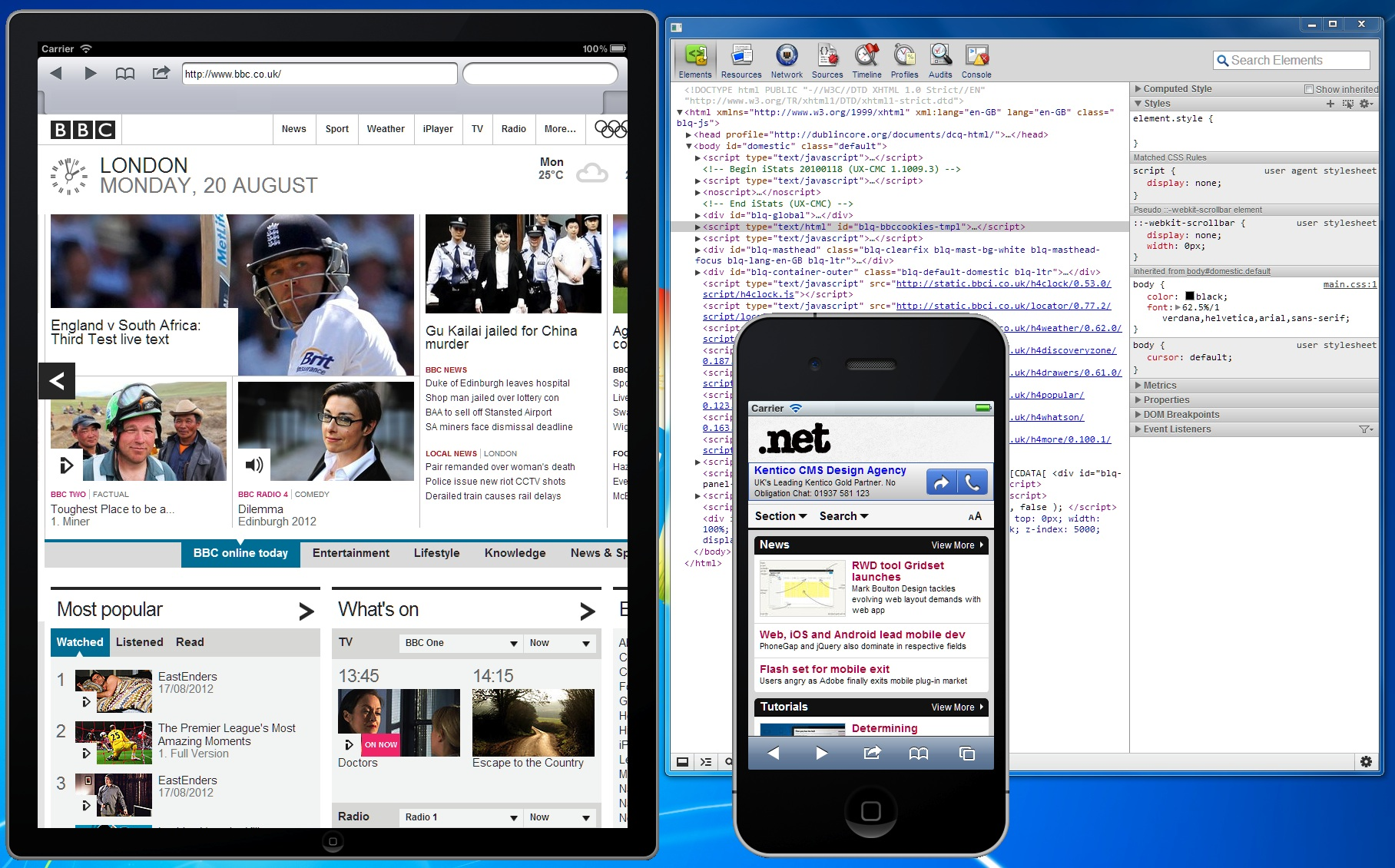 Windows-friendly iOS development, profiling and testing
