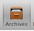 The Archives tab of the organizer