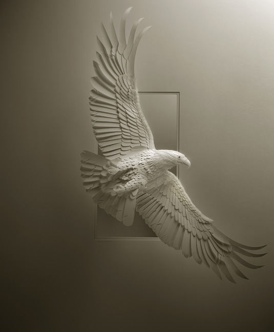 Calvin Nicholls Paper Art - eagle