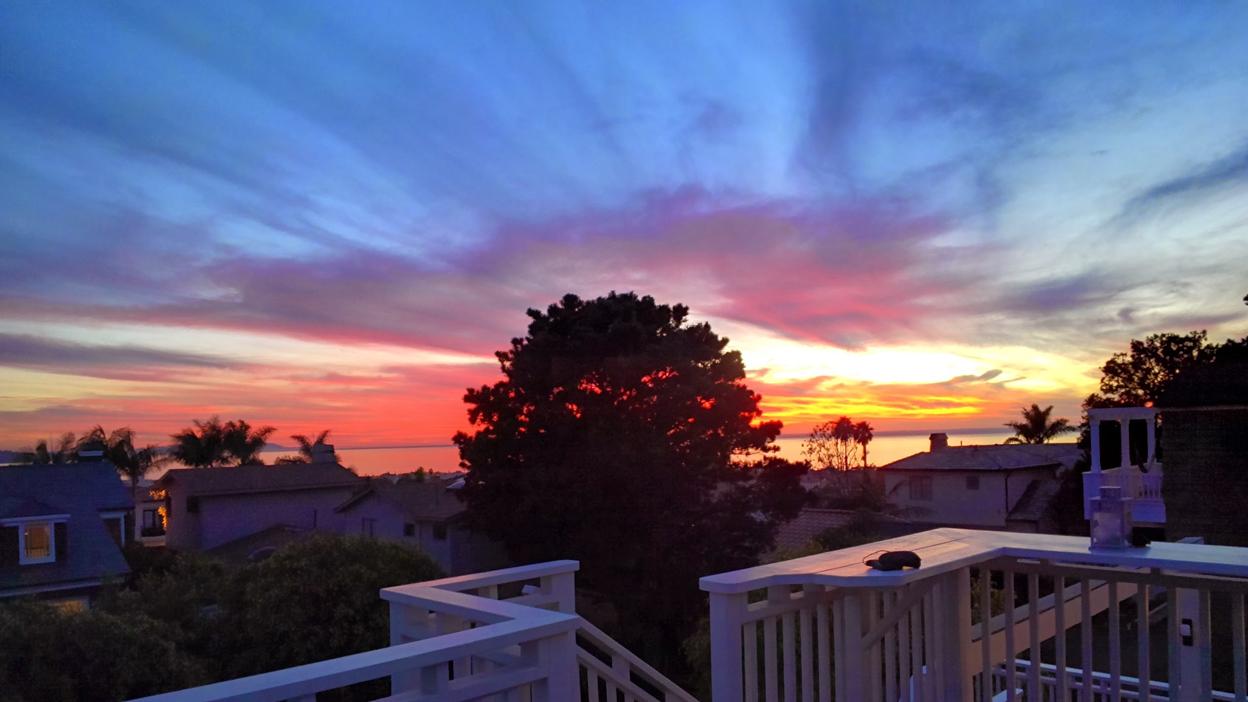 Google Glass sunset photo